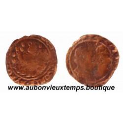 DOUBLE DENIER ALBERT et ISABELLE ND ( 1598-1621 ) DOLE – COMTE de BOURGOGNE