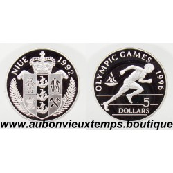5 DOLLARS ARGENT BE - OLYMPIC GAMES 1996 - 1992 NIUE