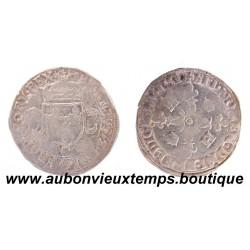 DOUZAIN aux CROISSANTS - HENRI II 1551 C