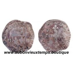 1/4 ECU HENRI III 1588 9 RENNES