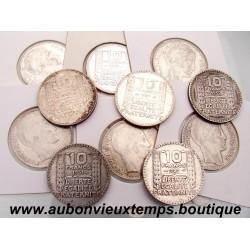 LOT DE 12 MONNAIES ARGENT 10 FRANCS TURIN