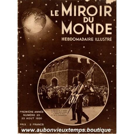 LE MIROIR DU MONDE N°25 - 23.08.1930