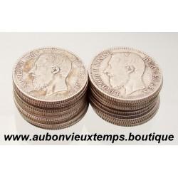 LOT DE 20 MONNAIES ARGENT 1 FRANC LEOPOLD II