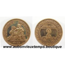 2 FRANCS 1927 CHAMBRE de COMMERCE