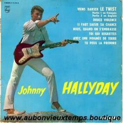 33T JOHNNY HALLYDAY - VIENS DANSER LE TWIST - PHILIPS 8 TITRES