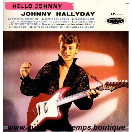 33T JOHNNY HALLYDAY - HELLO JOHNNY - 10 TITRES