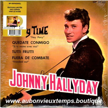 45T JOHNNY HALLYDAY - PONY TIME - 4 TITRES