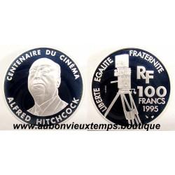 100 FRANCS ESSAI ARGENT 1995 ALFRED HITCHCOCK