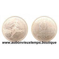 100 FRANCS ARGENT 1989 ALBERTVILLE 92