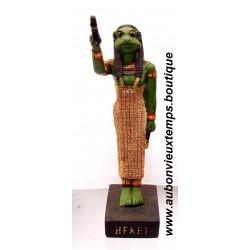 STATUETTE DIEU EGYPTIEN HEKET PLASTOY