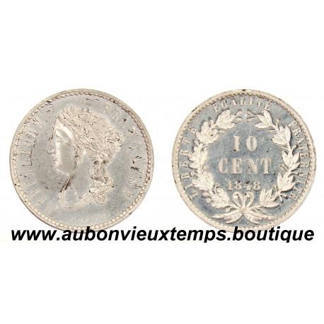 10 CENTIMES ESSAI 1848 BOIVIN