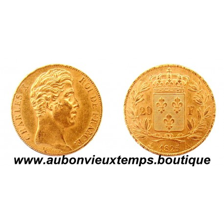 20 FRANCS OR 1825 A CHARLES X
