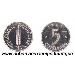 5 CENTIMES ESSAI 1961 EPI