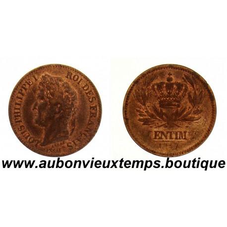2 CENTIMES ESSAI 1847 LOUIS PHILIPPE 1er TYPE à la COURONNE