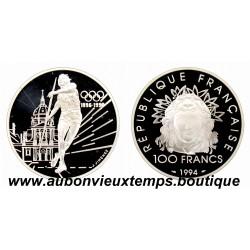 100 FRANCS ARGENT BE 900/1000 1994 LE LANCEUR DE JAVELOT
