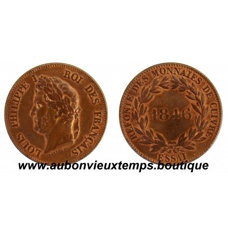 DECIME ( MODULE du ) BRONZE ESSAI 1846 LOUIS PHILIPPE 1er