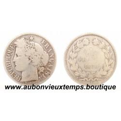 2 FRANCS ARGENT 1870 A CERES - SANS LEGENDE