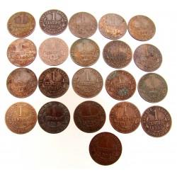 LOT 21x 2 CENTIMES DUPUIS de 1912 à 1920
