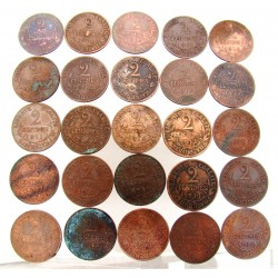 LOT 25x 2 CENTIMES DUPUIS de 1911 à 1916