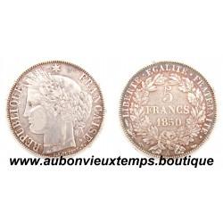 5 FRANCS ARGENT 1850 A CERES
