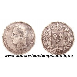 5 FRANCS ARGENT 1827 MA CHARLES X 2ème TYPE
