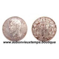 5 FRANCS ARGENT 1826 I CHARLES X 1er TYPE