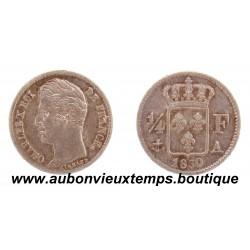 1/4 FRANC ARGENT 1830 A CHARLES X