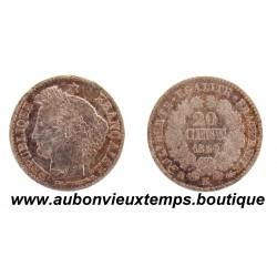 20 CENTIMES ARGENT 1850 K CERES
