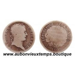 FRANC ARGENT 1808 D NAPOLEON 1er