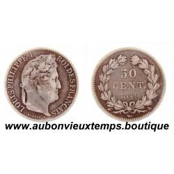 50 CENTIMES ARGENT 1846 A LOUIS PHILIPPE 1er