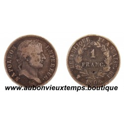 FRANC ARGENT 1808 BB NAPOLEON 1er