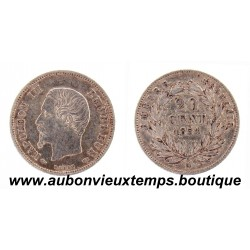 20 CENTIMES ARGENT 1854 A NAPOLEON III