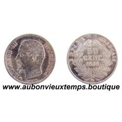 50 CENTIMES ARGENT 1859 BB NAPOLEON III