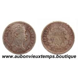 DEMI FRANC ARGENT 1808 BB NAPOLEON 1er