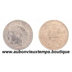 20 CENTIMES ARGENT 1850 A CERES
