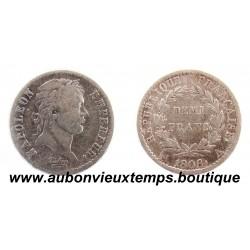 DEMI FRANC ARGENT 1808 A NAPOLEON 1er