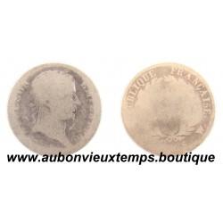 DEMI FRANC ARGENT 1808 W NAPOLEON 1er