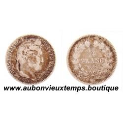 1/4 FRANC ARGENT 1843 B LOUIS PHILIPPE 1er