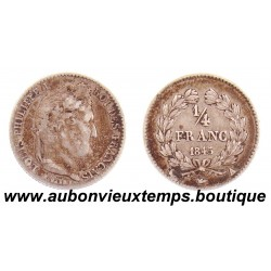 1/4 FRANC ARGENT 1845 A LOUIS PHILIPPE 1er