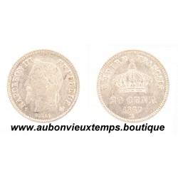 20 CENTIMES ARGENT 1867 BB NAPOLEON III