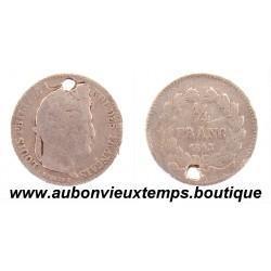 1/4 FRANC ARGENT 1842 W LOUIS PHILIPPE 1er