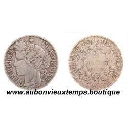 2 FRANCS ARGENT 1873 A CERES