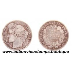 50 CENTIMES ARGENT 1850 A CERES