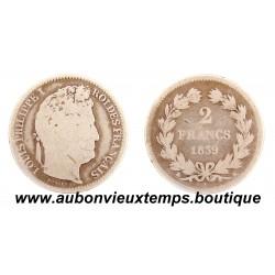 2 FRANCS ARGENT 1839 K LOUIS PHILIPPE 1er
