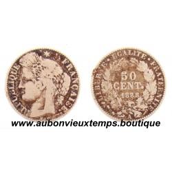 50 CENTIMES ARGENT 1888 A CERES
