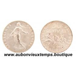 50 CENTIMES ARGENT 1912 SEMEUSE