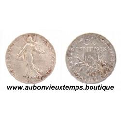 50 CENTIMES ARGENT 1919 SEMEUSE