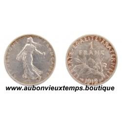 FRANC ARGENT 1912 SEMEUSE