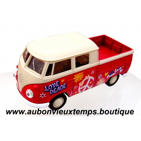 WELLY 1/39 VW T1 DOUBLE CABINE PICK UP - N° 43603