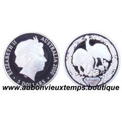 5 DOLLARS ARGENT BE 2000 ( 1999 ) AUSTRALIE - FAMILLE EMUS